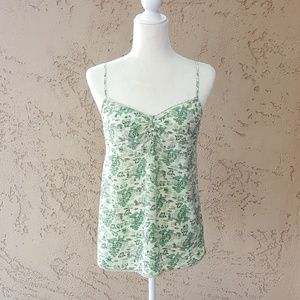 Lucky Brand - Silk Green & Cream Tank